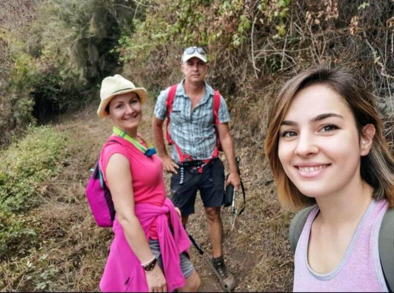 Guenda, Marina y Victor. Gregorios wanderfamily Tenerife.