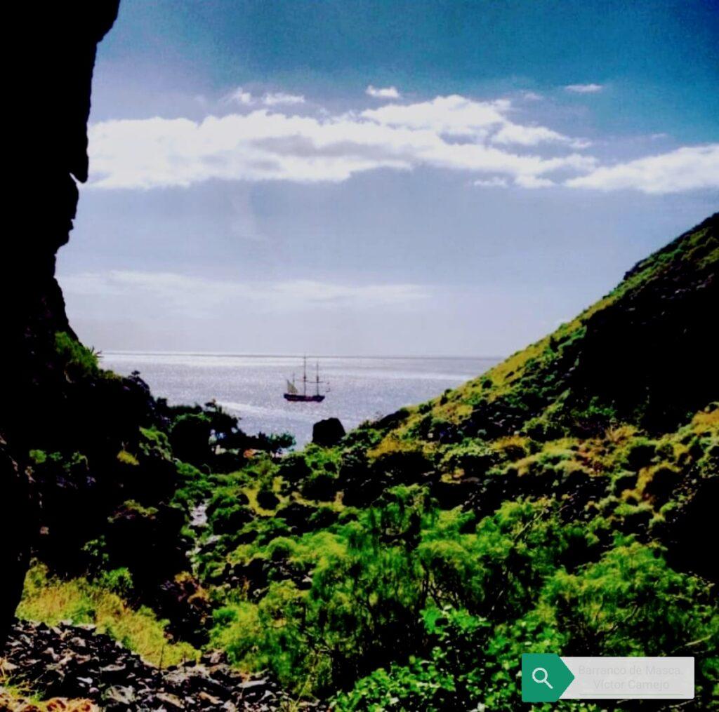 Masca, barranco, Schlucht, gorge. Gregorios wandernfamily Tenerife