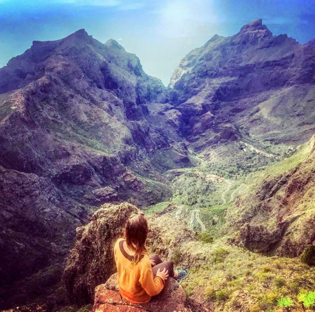 Masca, barranco, Schluchtt, gorge. Gregorios wandernfamily Tenerife