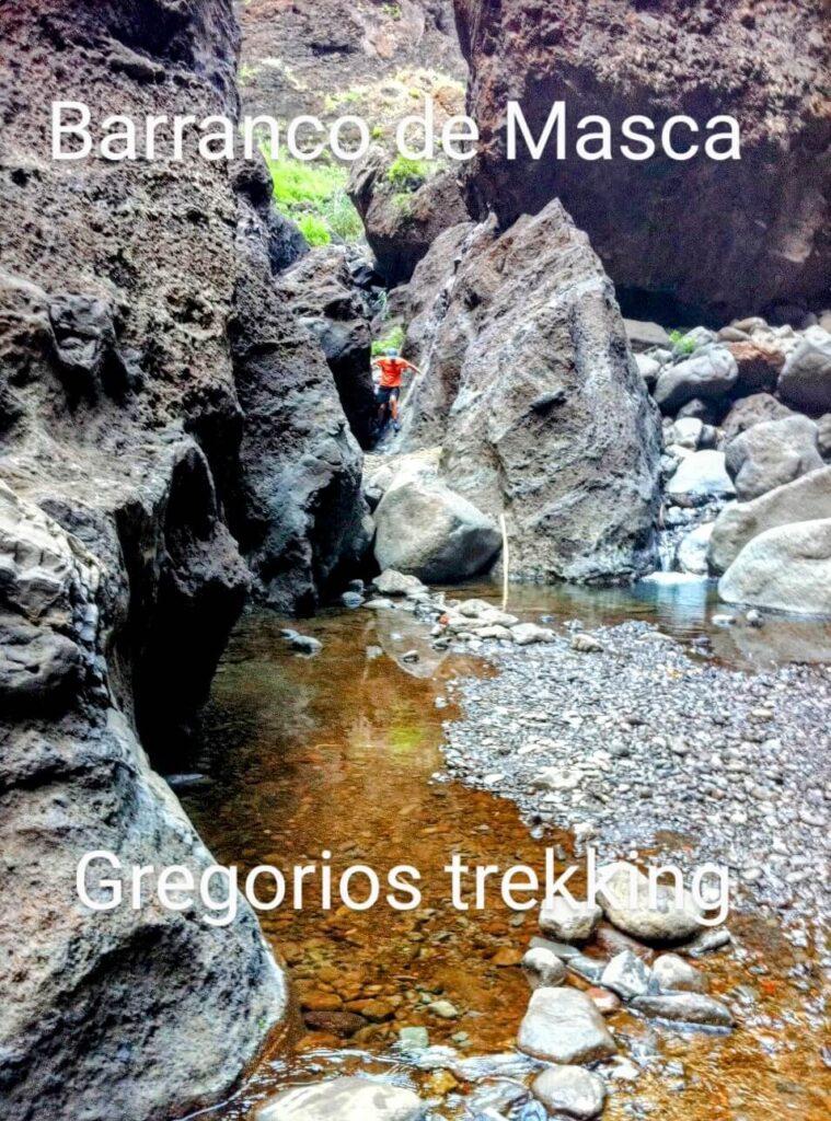 Barranco de Masca, senderismo descenso. Gregorios trekking